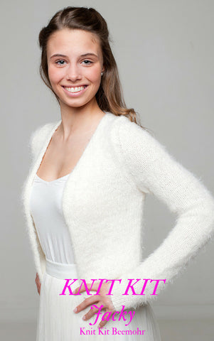 Knit kit for your wool bridal jacket & knitting instructions