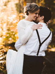 Get married in the Bavarian Forest with a lace jacket