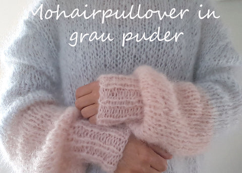 Hand knitted thick mohair sweater