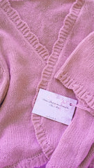 Cashmere jacket for the wedding in dusky pink