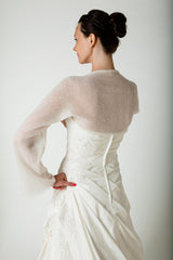 Bridal Bolero with knot made with cashmere