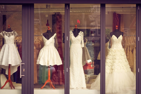 Anproge in the bridal shop