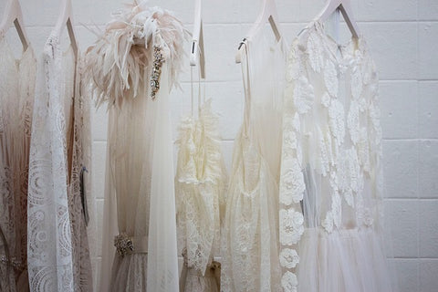 Wedding dresses to look at and try on