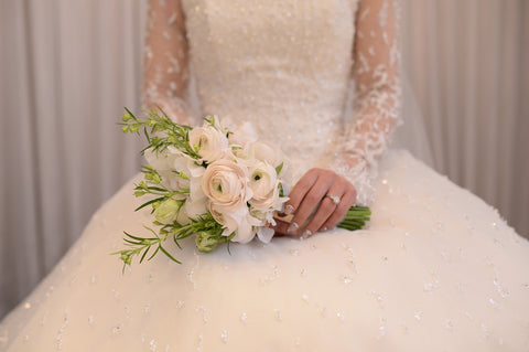 Getting married in a white wedding dress