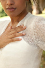 Beemohr knits for her wedding