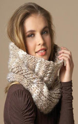 Knit tube scarf USHUAIA yourself with knitting instructions