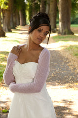 Bridal jacket knitted of chasmere