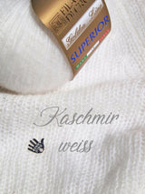 Knitted sweater for the wedding made of cashmere in white