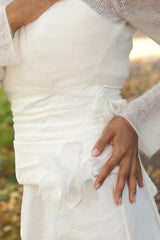 Bridal jacket longer in ivory for the church