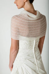 Bridal stole in white and ivory in lace
