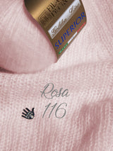 Cashmere wool pink for a hand-knitted sweater for the bride