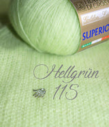 Bridal jacket made of cashmere knitted in light green for boho and bohemian