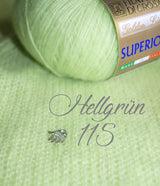 Cashmere wool light green for a hand-knitted sweater for the bride