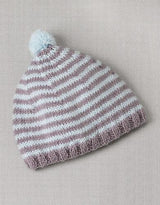 Striped hat for children from baby merino by Katia