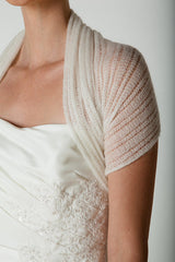 Bridal Lace Stole Knitting instructions for her bridal shawl in a beautiful lace pattern for her wedding