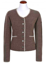 Traditional jacket BALTIK in brown by spieth & wensky edelweiss front