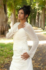 Cardigan for the bride in off white