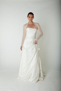 Cashmere jacket for your wedding dress