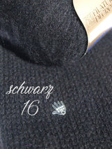 Cashmere sweater knitted in black for evening dresses