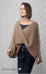 Knitting instructions for knitting an alpaca throw