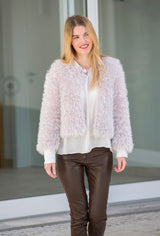 Fluffy cardigan to knit yourself instructions