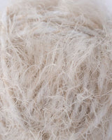 Knit your own bridal scarf in beige fluffy