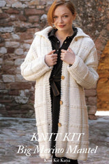 Ingenious big knitted coat by Katia