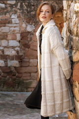 Knitted coat made of thick wool by Katia