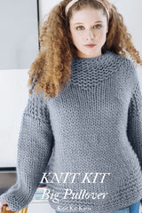 Knit sweater with Love Wool 106 gray by Katia
