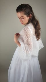 Bolero SKY to knit yourself with mohair wool from beemohr