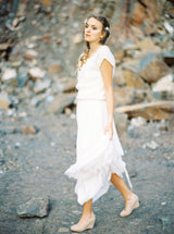 Cashmere vest to match the bridal skirt and dress
