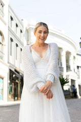 Do-it-yourself bolero for brides with Gatsby