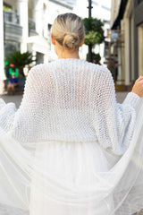 Bolero to knit yourself for weddings, silver
