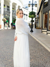 Cardigan to knit yourself for brides silver