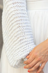 Bolero to knit yourself for brides with glitter wool
