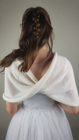 Bridal loop knitted from soft merino ivory