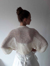 Knit Kit: knitting instructions and merino wool cream for a cardigan for parties