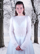 Bridal sweater knitted for winter