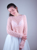 Knitted sweater with cuddly wool to knit yourself estivo