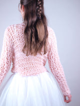 Bridal sweater made of wool and knitted pattern from Beemohr