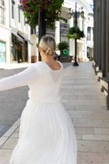 Wedding sweater with skirt for brides from Beemohr