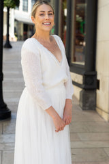 Wedding jumper knitted for brides from Beemohr