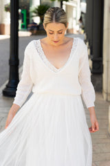 Wedding sweater with tulle skirt for brides from Beemohr