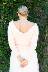 Sweater for weddings, cuddly soft knitted in rose blush