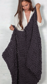 DIY knitting instructions from Katia for free couch blanket