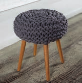 Knit stool cover with super thick wool 1