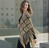 Crochet cloth in gold 45 rose with Gatsby by Katia