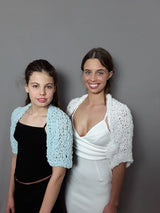 Bolero jacket in patner look for the bride and daughter
