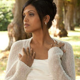 Knit your own bolero in white or ivory for your wedding dress