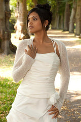 Knit your own cashmere bridal jacket for parties